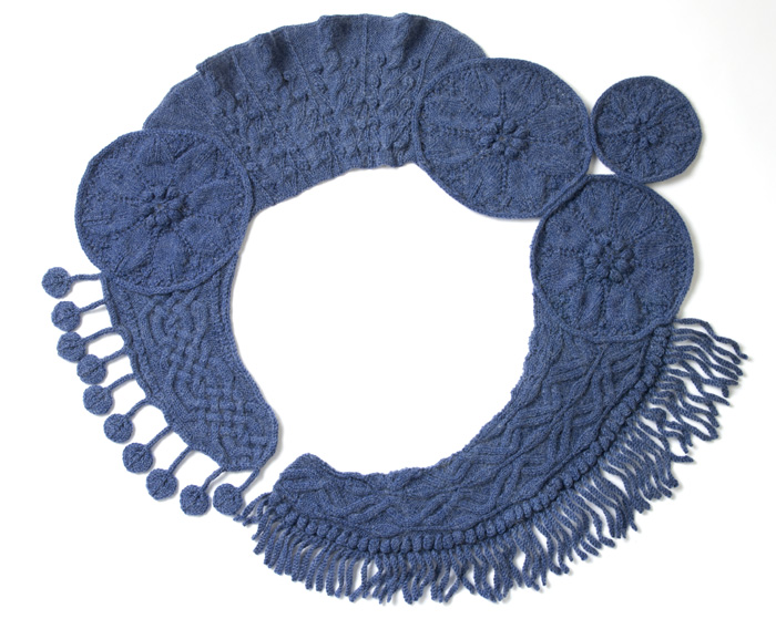 Medallion Scarf finished example